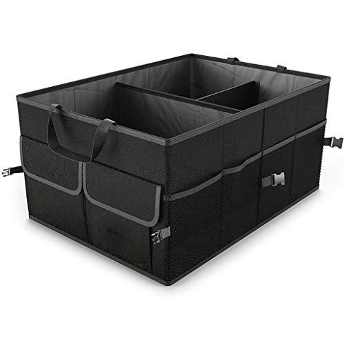 Xnhgfa Auto-Kofferraum Organisator, zusammenklappbarer Auto-Kofferraum Organisator mit Gurten, Rutschfester Boden für Auto/LKW/SUV,40 * 55 * 26cm