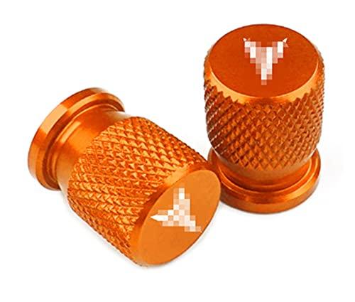 GUANGMING ZhengFeng Shop Tapas de válvulas de neumático Ajuste para Yamaha MT09 MT07 MT10 MT03 MT25 MT 09 07 03 10 MT-09 MT-07 MT-10 MT-03 Tracer 900 700 GT FZ09 XSR700 XSR900 (Color : Orange)