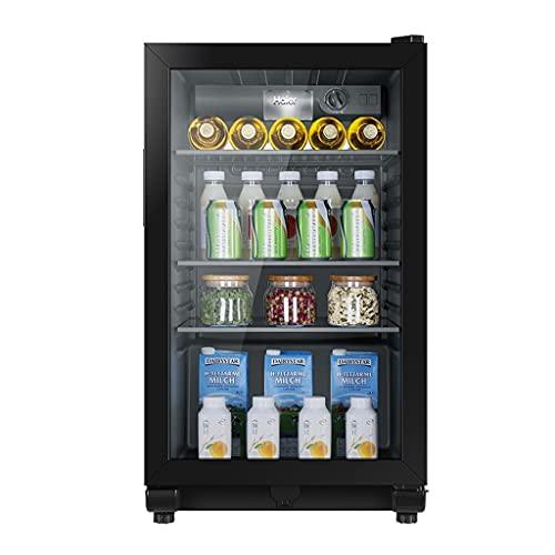 Barra de Hielo refrigerante de Vino, refrigerador de vinos para el hogar, refrigerador pequeño, gabinete de Vidrio Transparente, Control de Temperatura con luz LED