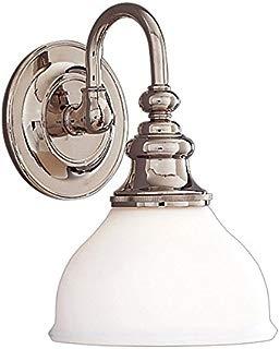 Hudson Valley 5901-PN, Sutton Reversible Glass Wall Vanity Lighting, 1 Light, 100 Watts, Nickel