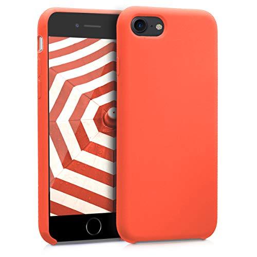 kwmobile Cover Compatibile con Apple iPhone 7/8 / SE (2020) - Custodia in Silicone TPU - Back Case Protezione Cellulare Arancione