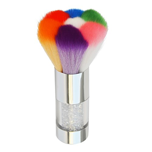 Convenient Colorful Nail Art Dust Brush Remover Cleaner For Acrylic & UV Nail Gel Powder Rhinestones Makeup Foundation