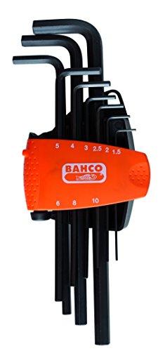 Bahco BE-9588 BHBE-9588 Winkelschraubendreher-Satz 6Kant/brüniert lang 9-teilig