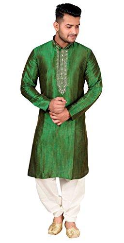Männer Sherwani Kurta Shalwar Kameez Pyjama Wedding Tragen 746 (XXXL (Brust- 46 Zoll), Grün)