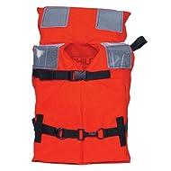 Kent Commercial Type I Jacket Style Life Jacket, Orange