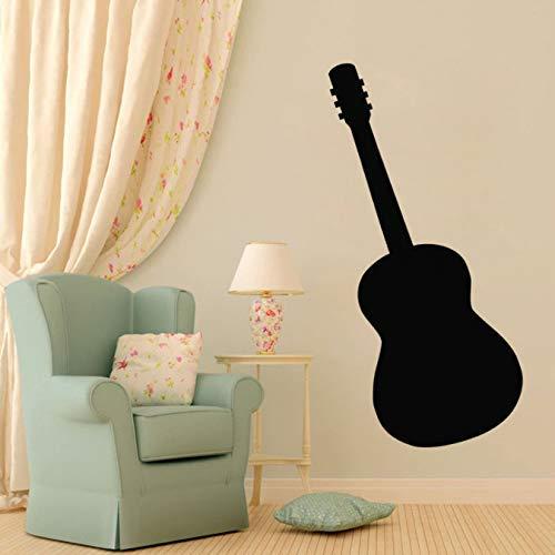 Gitarre Silhouette Wandaufkleber Kinderzimmer Wanddekorationen Abnehmbare Vinyl Wandtattoos Musikinstrument Wohnkultur 23X59Cm