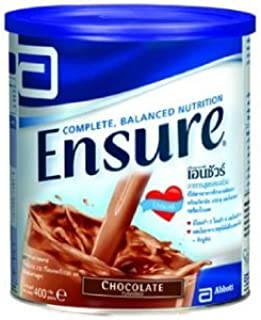 Ensure Chocolate Flavor 400g (14.10 Oz) ; Complete diet that provides the nutrients your body needs vitamins and minerals and fiber