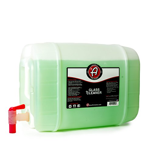 Adam's Glass Cleaner (5 Gallon) - Car Window Cleaner | Car Wash All-Natural Streak Free Formula for Car Cleaning | Safe On Tinted & Non-Tinted Glass | Won't Strip Car Wax or Paint Protection