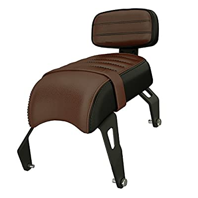2018-2020 Genuine Indian Scout Bobber Leather Passenger Seat With Backrest 2882853-LNA by POLARIS