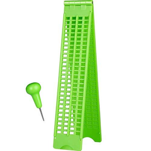 GeKLok 4 líneas 28 celdas con lápiz capacitivo ligero tablero Braille escritura pizarra accesorios (verde) ⭐