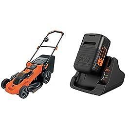 BLACK+DECKER Tondeuse 48 cm sans Fil, Tondeuse à Gazon & Kit Batterie Lithium 36V 2Ah et Chargeur 1h30, Compatible avec…