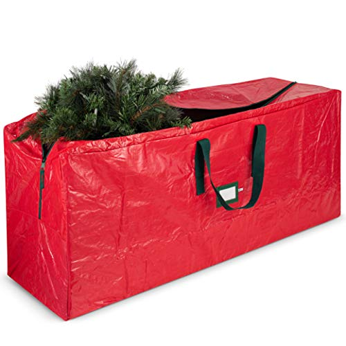 Artificial Christmas Tree Storage Bag - Fits Up to 7.5 Foot Holiday Xmas Disassembled Trees with Durable Reinforced Handles & Dual Zipper - Waterproof Material Protects from Dust, Moisture & Insects