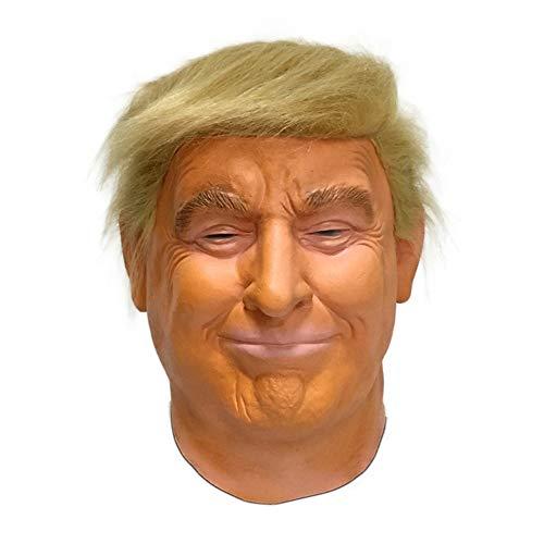 Jackallo Halloween Realistische Promi-Maske Donald Trump-Maske Präsidentschaftskandidatenmaske Latex-Vollkopfmaske Kopfbedeckung für Erwachsene