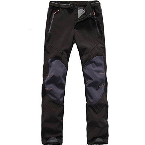 Homme Pantalon Softshell Doubl/é Polaire Coupe-Vent Imperm/éable Outdoor Sport Camping Randonn/ée Trekking Pantalon #801