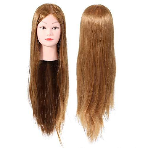 Tête de formation en coiffure, pratique de style de cheveux Mannequin de perruque de pince à cheveux pour pratiquer le style de coupe de tresse de coupe avec fonction