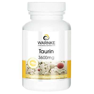 Warnke Health Products Taurine 3600mg (daily amount), vegan, 120 capsules from Warnke Gesundheitsprodukte GmbH & Co. KG