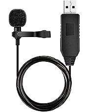 USBマイク iGOKU ピンマイク PC用マイク コンピュータ用マイク 無指向性USBミニクリップマイク マイクロフォン Macbook、インタビュー、Skype、オーディオビデオレコーディング、ポッドキャストなど対応 1.5m延長コード付き 一年間品質保証