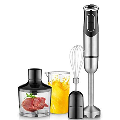 Buy CEHNXIU Immersion Hand Blender, Turbo Setting and Low Noise, 4 in 1 Stick Blender with Blender, Chopper, Whisk, Beaker, Stainless Steel Blades, BPA Free, Dishwasher Safe.