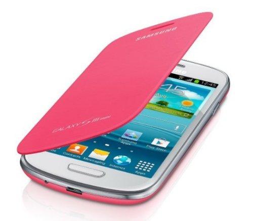 Originale Samsung Galaxy S3Mini i8190custodia flip cover in rosa–efc-1m7fpecstd–100% originale garantito da Digibaba