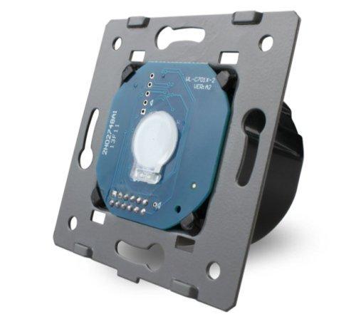 LIVOLO Glas Touch Lichtschalter Funkschalter Steckdosen Wechselschalter uvm in grau (Modul: Wechselschalter VL-C701S)