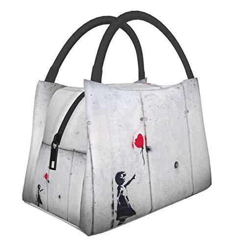 Bolsa de almuerzo portátil impermeable de Banksy Girl iti grande, bolsa de aislamiento térmico