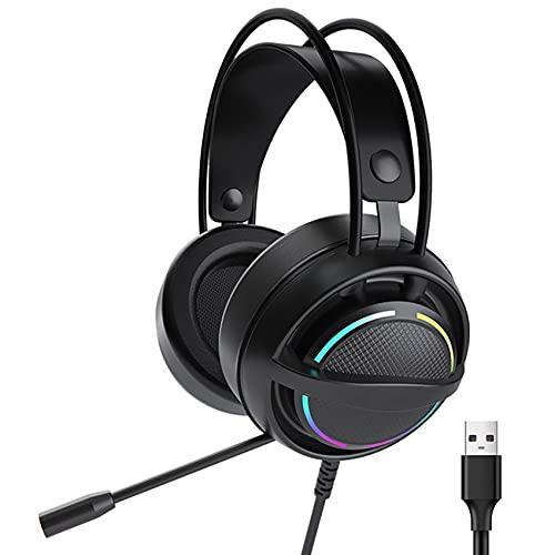 PSH-100 Auriculares de juego con micrófono para PS4 Auriculares con cable 7.1 sonido envolvente juego de computadora Auriculares PC portátil
