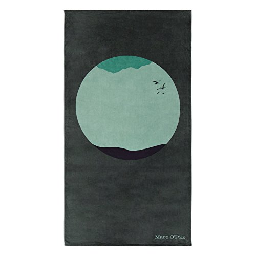 Marc O'Polo Strandlaken Strandtuch Sea Circle Green Kreis 100x180 cm