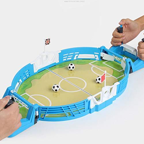 Metyere Mini Tabletops Soccer Game Desktop Football Two Player Finger Sport Toy for Kids