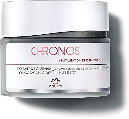Crème visage anti-signes Nuit détox - Densité et revitalisation 60+ - Natura Chronos - 40ml