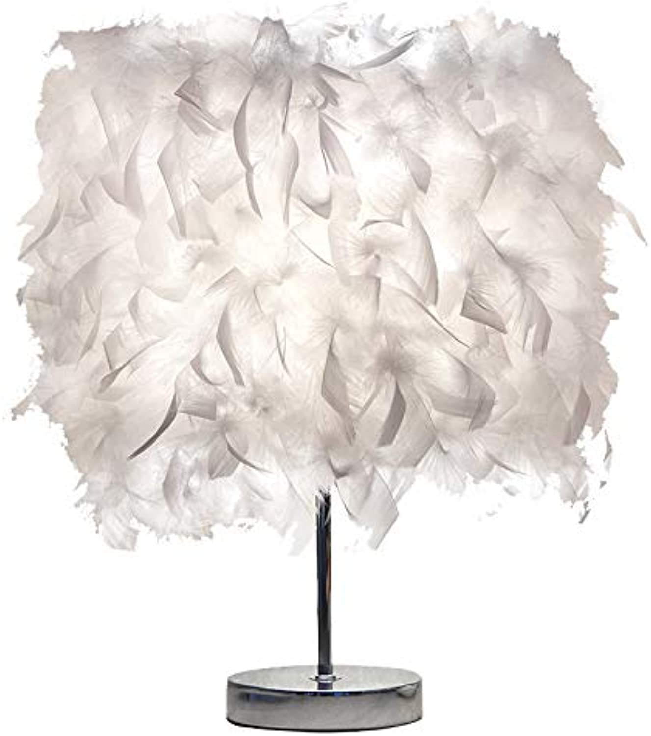 Feather Table Lamp Bedroom Headlamp Simple Modern Romantic Creative European Princess Wedding Room Warm Light Warm Bedside Lamp