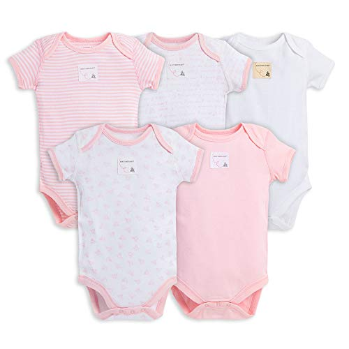 Image of the Burt's Bees Baby Unisex Baby Bodysuits, 5-Pack Short & Long Sleeve One-Pieces, 100% Organic Cotton
