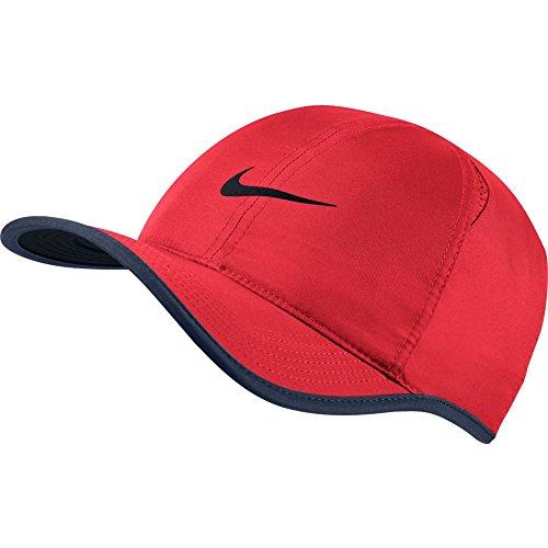 Nike Damen Aerobill Featherlight Mütze, Action Red/Midnight Navy/Black, One Size
