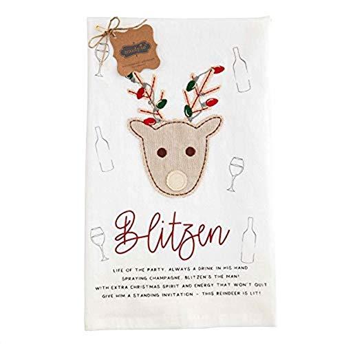 Blitzen Reindeer Towel