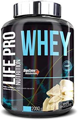 Life Pro Whey 2Kg   Suplemento Deportivo, 78% Proteína de Concentrado de Suero, Protege Tejidos, Anticatabolismo, Crecimiento Muscular y Facilita ...