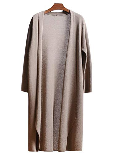 BoBo Lily Cardigan Damen Herbst Elegant Mode Longpullover Langarm Unifarben Strickjacke Unikat Style Gemütlich Casual Trendigen Young Fashion Strickmantel