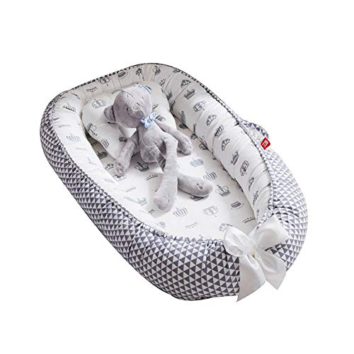 Womdee - Tumbona para bebé, Nido Transpirable para recién Nacido, Funda extraíble...