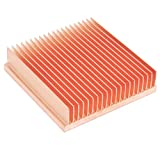DIY Pure Copper Skiving Fin Heatsink 40x40x10mm / 1.57x1.57x0.39 inches for Electronic Chip IC Cooling