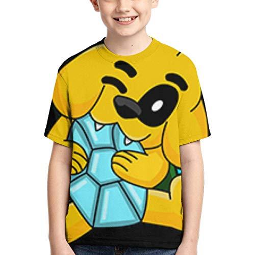 HJYR Camiseta para niños Mikecra-CK Camiseta de Manga Corta Linda y Fresca Estilo Mikecra-CK Negro