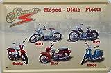 Simson Moped Flotte DDR Blechschild 20x30 cm Schild Sign Blechschilder SR1 SR2 Spatz Star KR50 Ostalgie