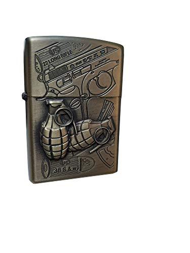 Zippo Accendino army antivento in metallo a lunga durata, ideale con liquido Zippo, accendino ricaricabile, perfetto per sigarette, candele, accendini tascabili, accendifuoco