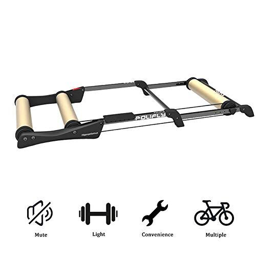 ZXYY - Rodillos para bicicleta, entrenador de equitación, caballete de entrenamiento, plegable, para interior y para bicicleta de montaña y de carretera, plegables, herramientas para el tren, dorado