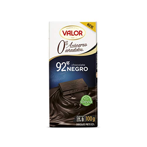 Chocolates Valor Negro 92% Azúcares Añadidos, 100g