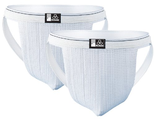 McDavid 3133 Two Pack Swim Supporter, White, Medium