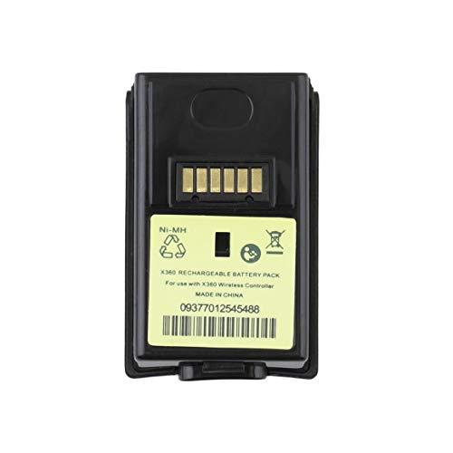 Funnyrunstore 4800mAH batería Recargable Profesional para Xbox 360 Controlador inalámbrico Negro Doble protección contra sobrecarga