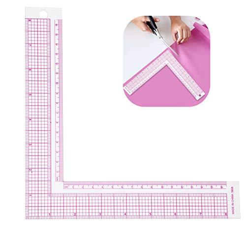 Jadpes Plástico L-Forma Cuadrada Regla, Curva Francesa Medida de Costura Profesional Tailor Craft Tool Sastre Dibujo Regla de Costura Craft Tool(#1)