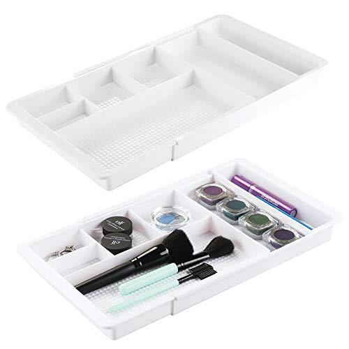 Organizador Maquillaje Blanco marca mDesign