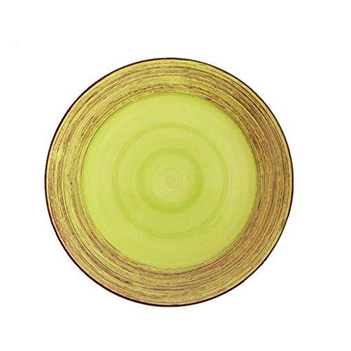 Plaque de salade en céramique 11in peint à la main couverts de steak occidental pour Restaurant cuisine petit déjeuner salade de fruits nouilles