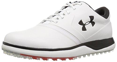 Under Armour UA Performance SL Leather, Zapatos de Golf Hombre, Blanco (White 100), 43 EU