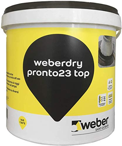 weberdry pronto 23 top Impermeabilizzante a base bitume pronto all'uso, nero, 5 kg