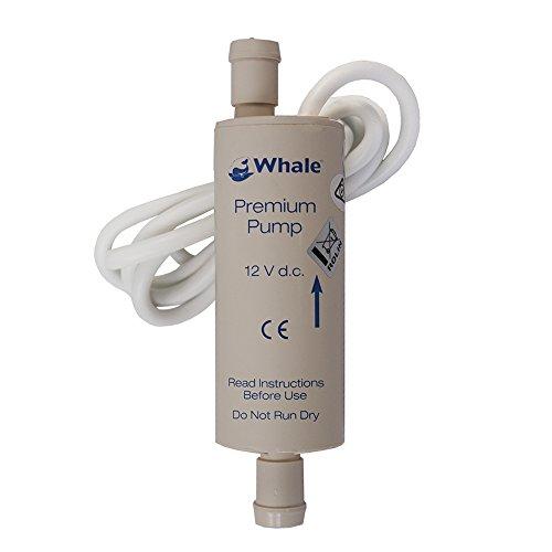 Whale - Pompa ausiliaria Modello Premium 12V Electric, Colore: Bianco